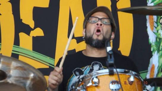 "Frank Ferrer- Frank Ferrer is an American rock drummer and session musician. In October 2006, Ferrer became an official member of the American hard rock band Guns N' Roses after serving as the band's emergency substitute drummer for Bryan Mantia on several occasions during the band's summer 2006 European tour. Ferrer is also a member of The Psychedelic Fursas well as a former member of Love Spit Love. He has recorded and worked with several high profile musicians including The Beautiful, Robi ""Draco"" Rosa, and Sarah Clifford. -photo by Charlie Owens"