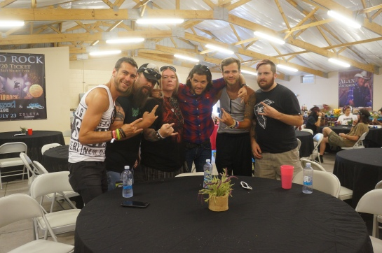Ryan, Charlie, the Hellion,  David, Adam, and Gabe post interview- photo by Mrs. Hellion