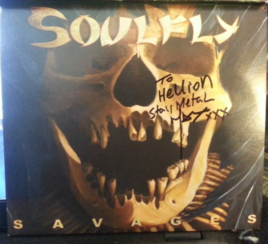 The latest release from SouIfly (I was lucky and Max signed my copy)