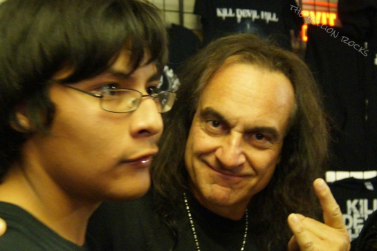 Vinny Appice with a fan
