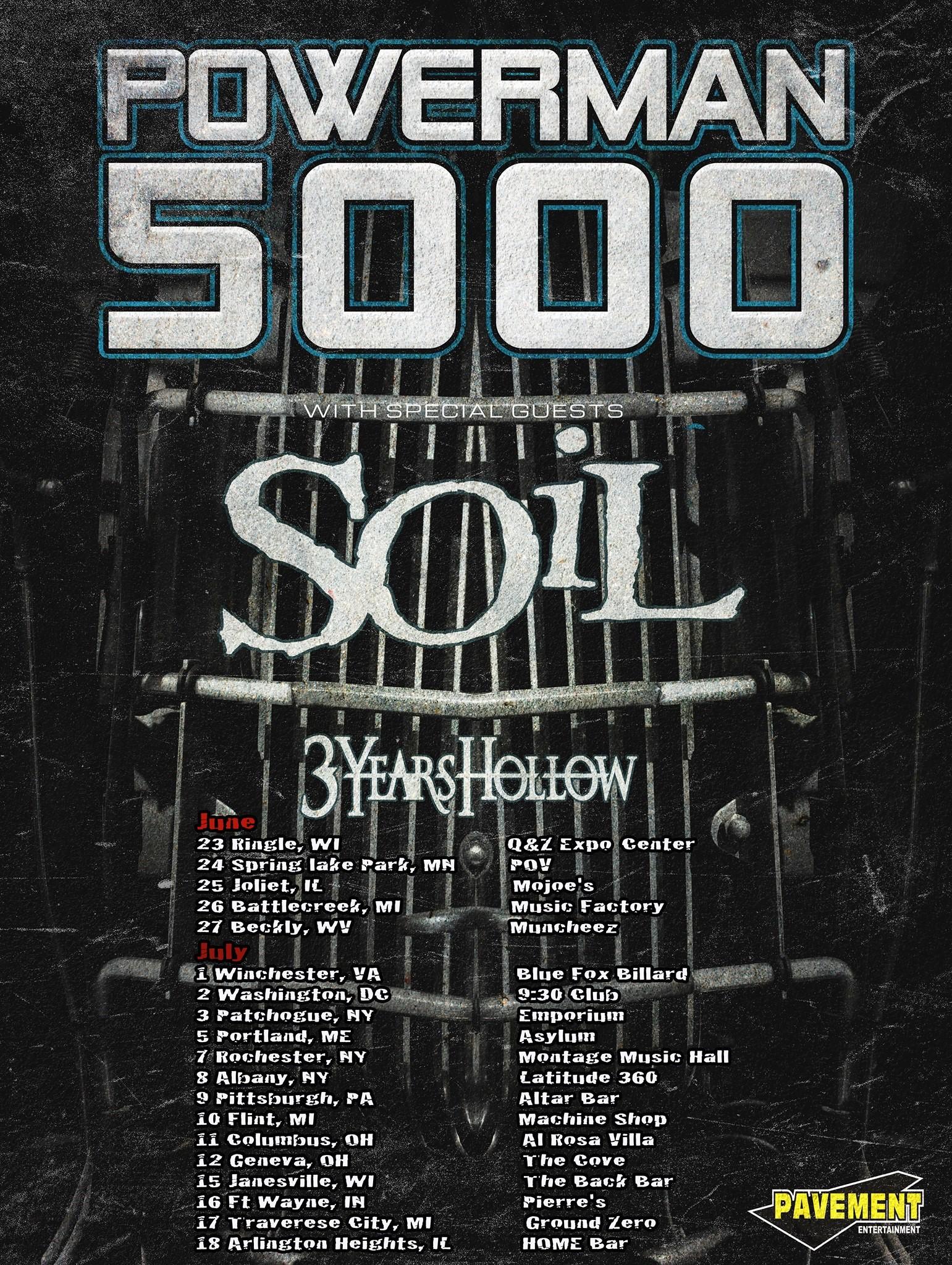 Soil the hellion rocks for Soil tour dates 2015